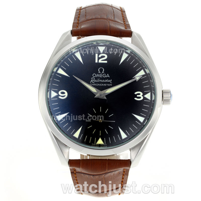 Replica Omega Railmaster Aqua Terra Railmaster Unitas 6498 Movement With Black Dial Ar Coating Watch