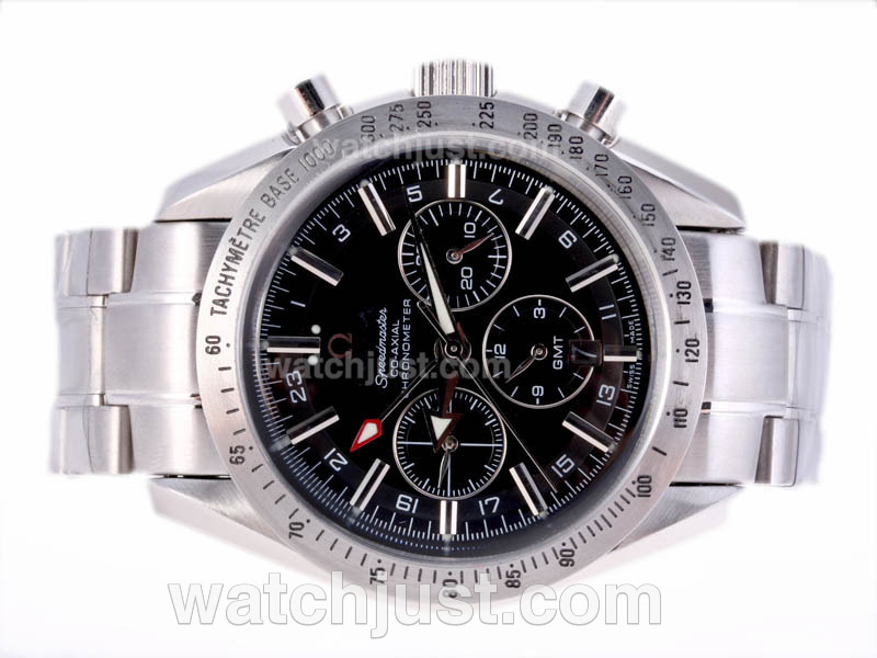 Replica Omega Speedmaster Gmt Automatic With Black Dial Watch