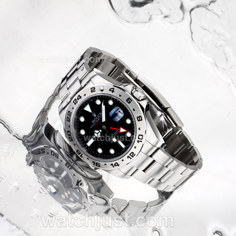Replica Rolex Explorer Ii Gmt Automatic With Black Dial S/s Same Structure As Eta Version High Quality(gift Box Included) Watch
