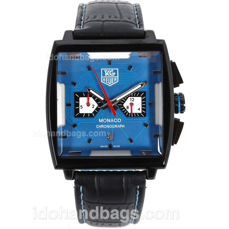 Replica Tag Heuer Monaco Automatic Pvd Case Red Needles Watch